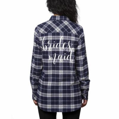 Flannel Bridesmaid Shirt - Lowercase