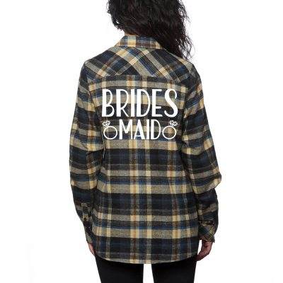 Bridal Party Flannel Shirt with Rings