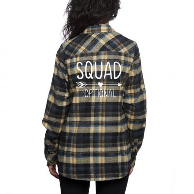 """SQUAD"" Flannel Shirt"