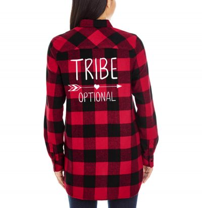 """TRIBE"" Flannel Shirt"