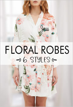 Floral Wedding Robes