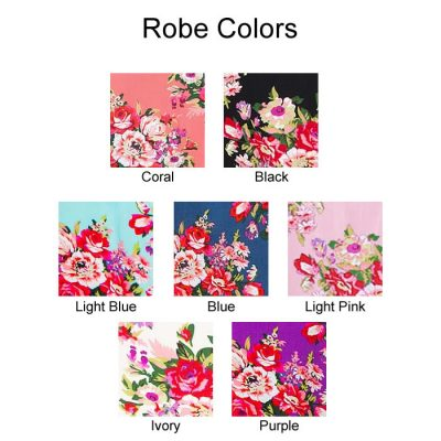 Floral Cotton Robe Colors