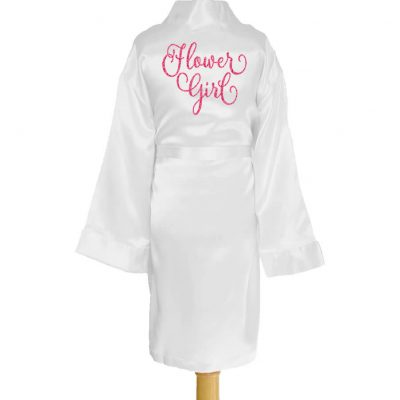 Personalized Kid's Flower Girl Satin Robe