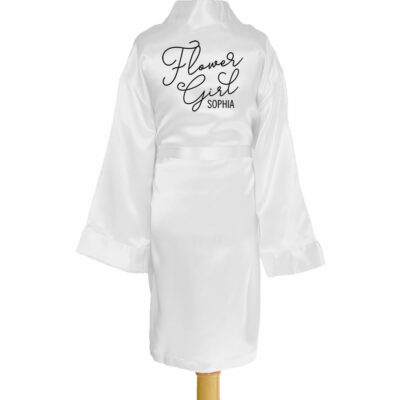 Kid's Satin Flower Girl Robe