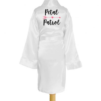 """Petal Patrol"" Kid's Satin Robe with Arrow"