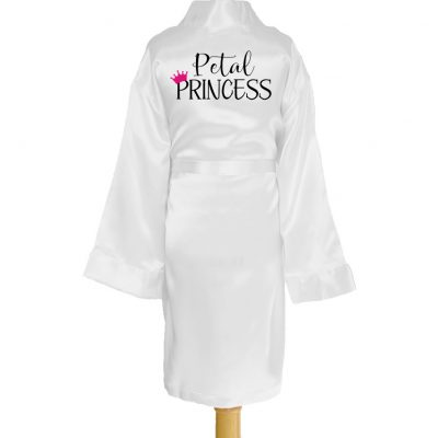 """Petal Princess"" Kid's Satin Robe"