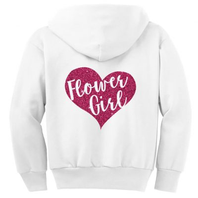 Heart Flower Girl Zip Hoodie