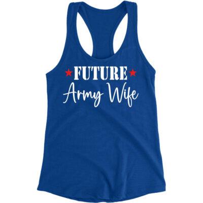 Future Military Wife Rhinestone Tank Top