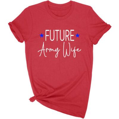 Future Military Wife Rhinestone T-Shirt
