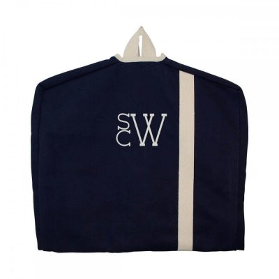 Garment Bag with Modern Monogram