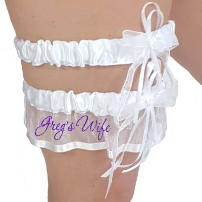 "Personalized ""Wife"" Garter Set"