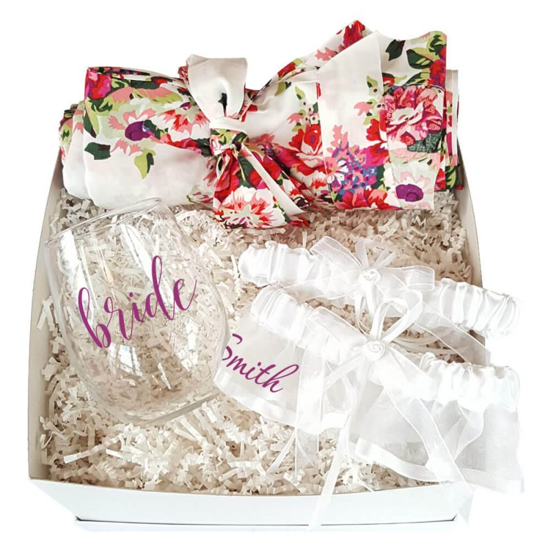 Floral Bridal Shower Gift Box