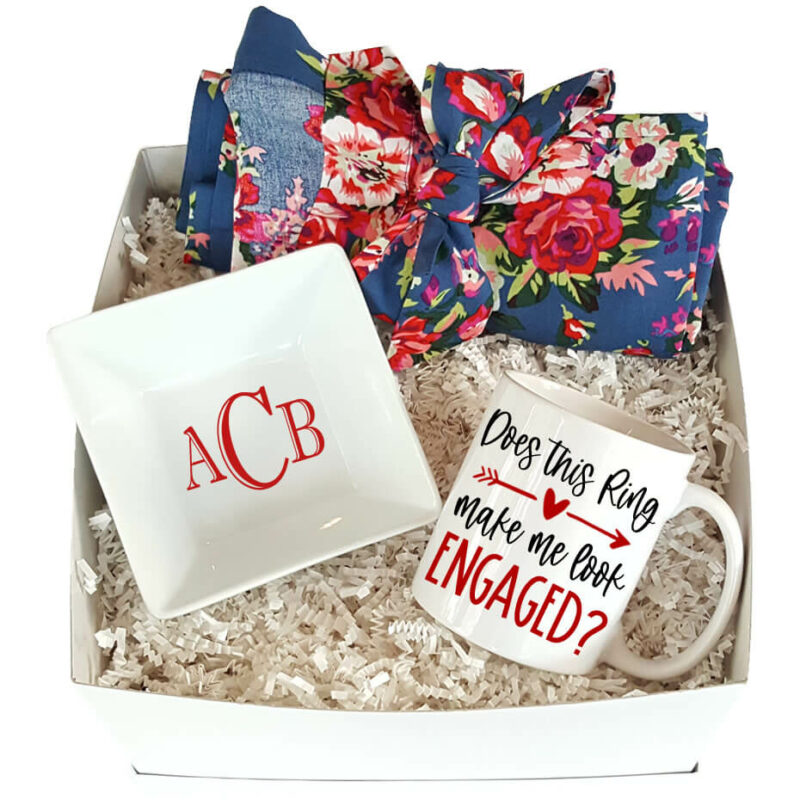 Floral Engagement Gift Box