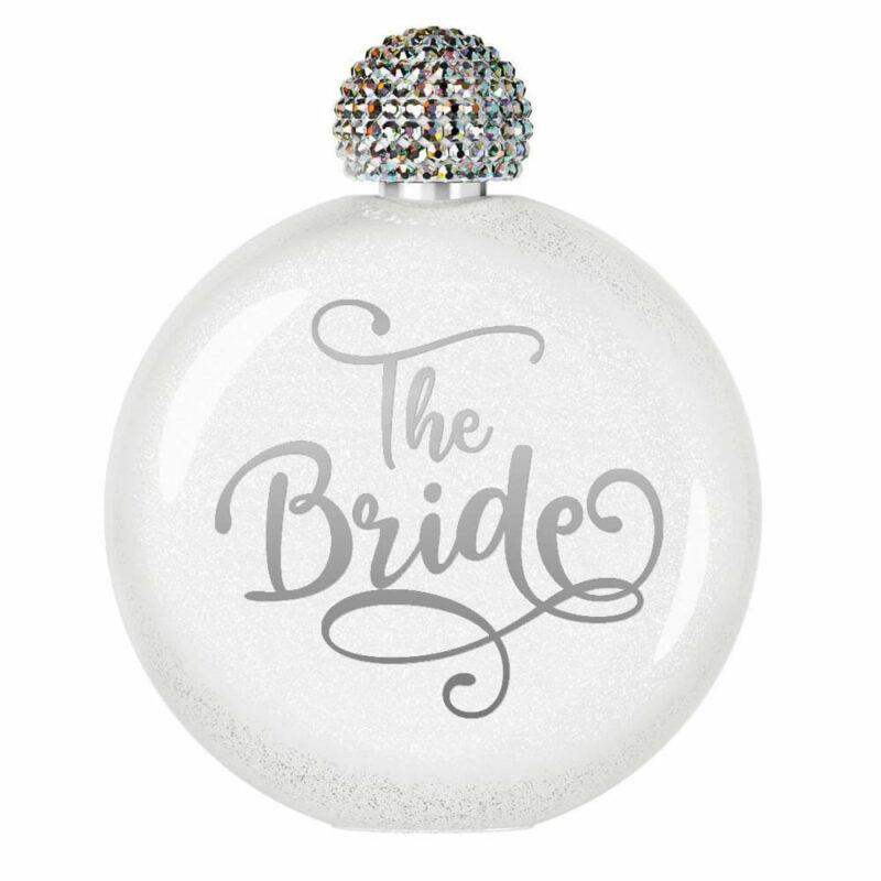 The Bride Glitter Flask