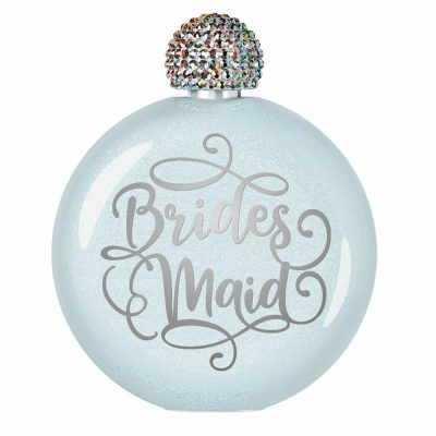 Bridesmaid Glitter Flask