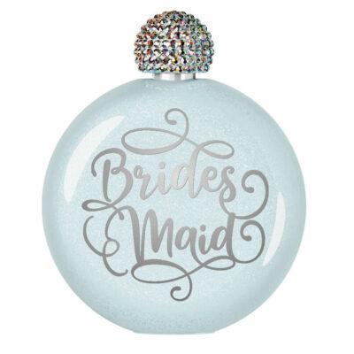 Bridesmaid Glitter Flask