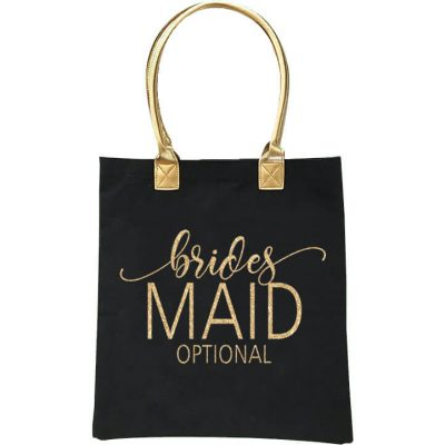 Gold Handle Bridal Party Tote Bag