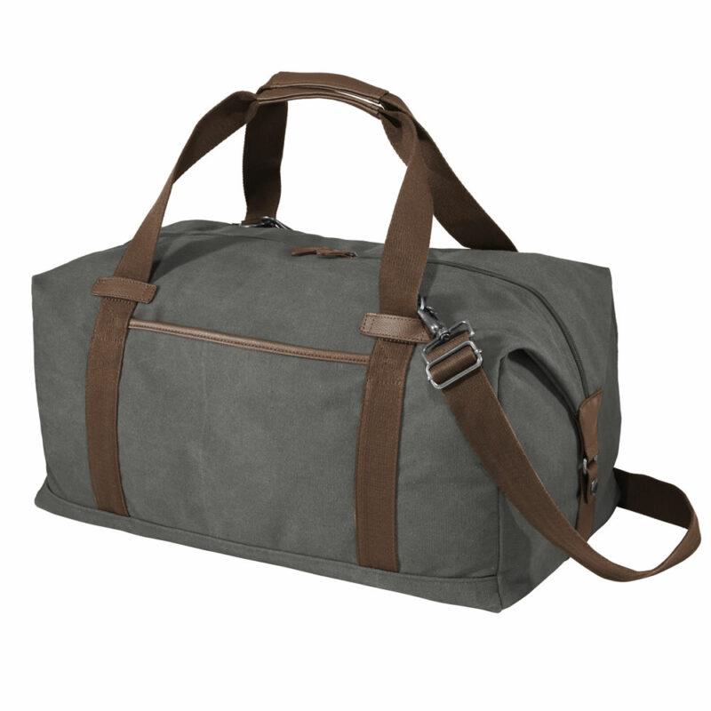 Gray Duffel Bag - Side