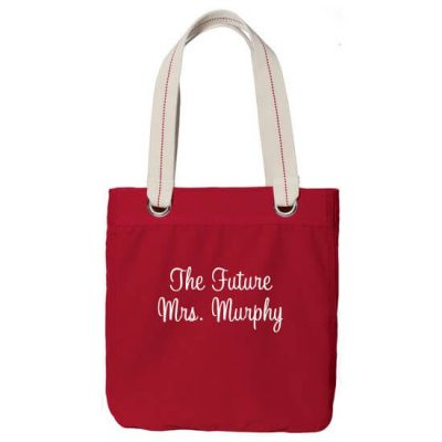 "Personalized ""The Future Mrs."" Grommet Bride Tote Bag"