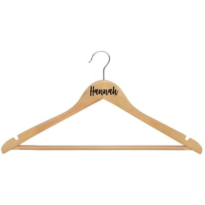 Wood Hanger with Name - Natural
