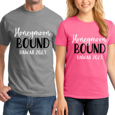 """Honeymoon Bound"" T-Shirt Set"