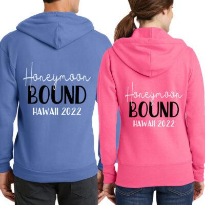 """Honeymoon Bound"" Full-Zip Hoodie Set"