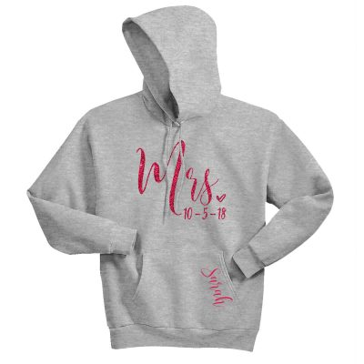 """Mrs."" Hoodie with Date"