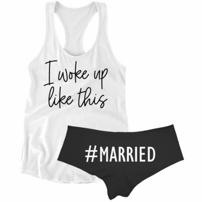 I woke up like this married boyshort set