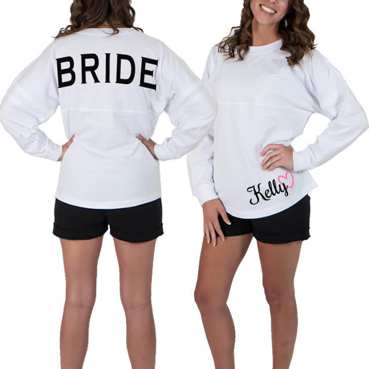 Bride Jersey Shirt with Optional Name