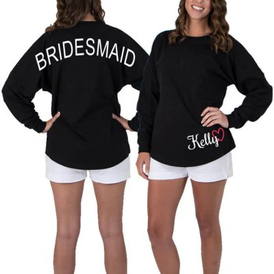 Bridal Party Jersey Shirt with Optional Name