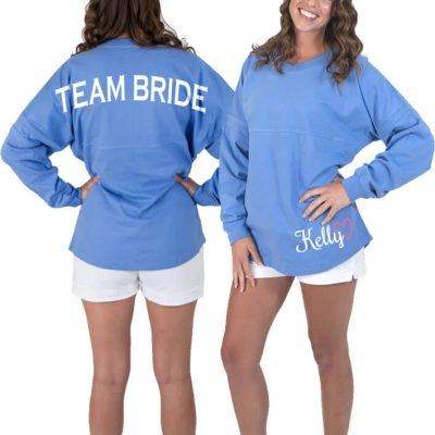"""Team Bride"" Jersey Shirt with Optional Name"
