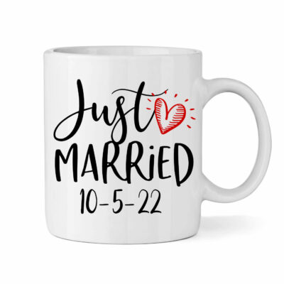 """Just Married"" Bride Mug"