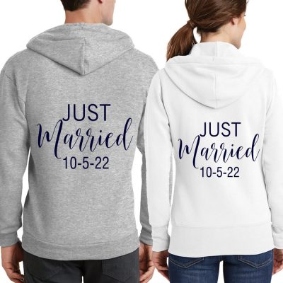 """Just Married"" Full-Zip Hoodie Set"