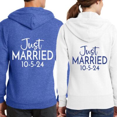 """""""Just Married"""" Full-Zip Hoodie Set"""