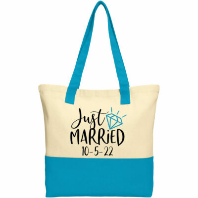 """Just Married"" 2-Tone Tote Bag"