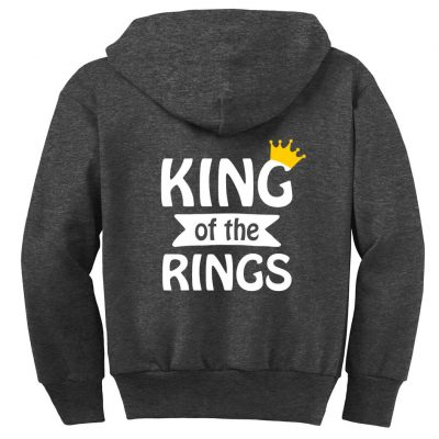 """King of the Rings"" Ring Bearer Zip Hoodie"