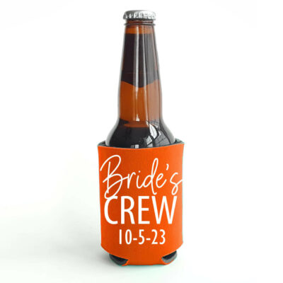 """Bride's Crew"" Koozie with Date"