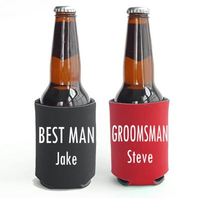 Personalized Groomsman Koozie
