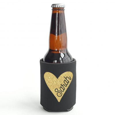 Koozie with Name in Heart