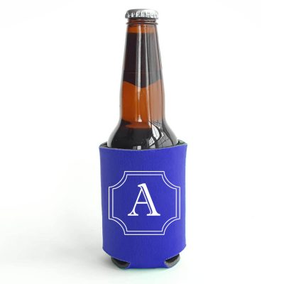 Personalized Koozie with Single Initial Monogram