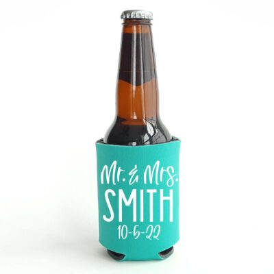Personalized Mr. & Mrs. Wedding Koozie