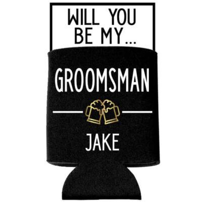 """Will You Be My Groomsman?"" Koozie"