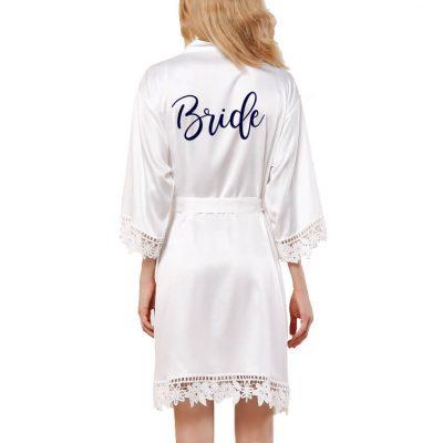 Lace Satin Bride Robe