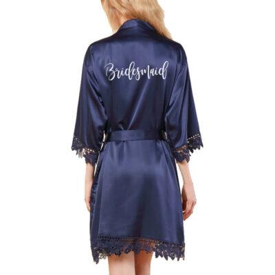 Lace Satin Bridesmaid Robe