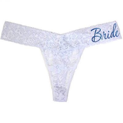 """Bride"" Lace Thong"