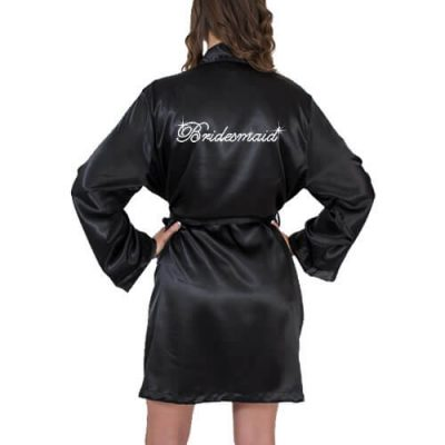 Rhinestone Satin Fancy Bridesmaid Robe