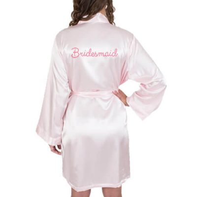 Rhinestone Satin Bridesmaid Robe