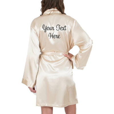 Create Your Own Embroidered Satin Robe