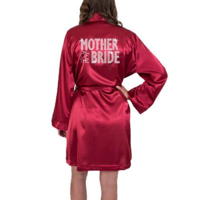 Rhinestone Satin Mother of the Bride/Groom Robe - Block