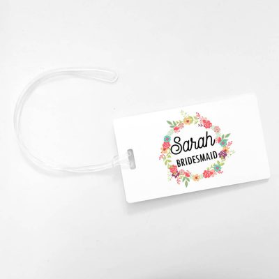 Floral Bridal Party Luggage Tag